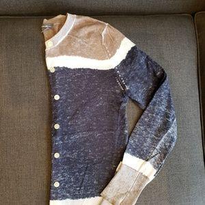 Color block cardigan